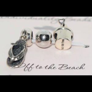 Jewelry - Sterling Silver Beach Slide Charms